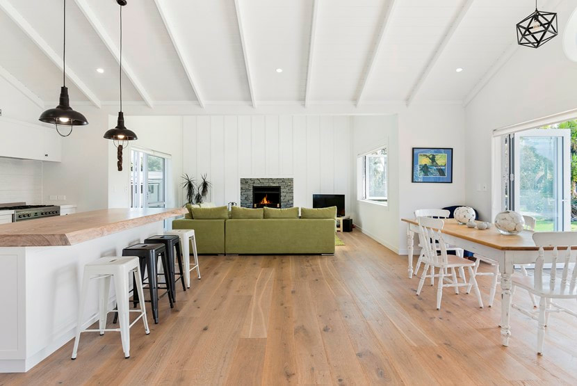 Matarangi Beach House Engineered Timber Ash Flooring