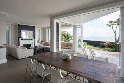 beach house of the year dining with solid oak flooring